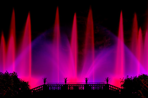 Fountain show as Longwood Gardens