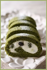 Matcha roll cake - homemade (bananagranola (busy)) Tags: food cake japan dessert japanese baking homemade sweets japanesefood matcha greentea rollcake