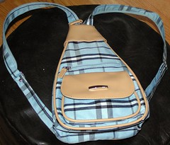 Very very....Plaid (Pink Sphinx) Tags: blue white black bag tan plaid zips picnik tartan checks msh0608 rusksack msh060814