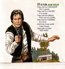 Star Wars Adventures In ABC: H is for Han Solo (sciencensorcery) Tags: kids starwars books 80s 1984 childrens eighties hansolo