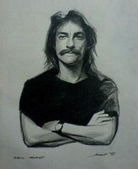 Neil Peart (Brett De La Art) Tags: portrait sketch neil rush peart