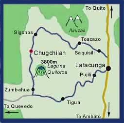 map quilotoa ecuador