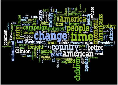 Obama Nomination Speech Wordle