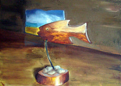 Fish (whalecrow) Tags: painting drawing contemporaryart figurative andyfoulds whalecrow tomdefreston