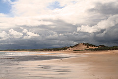 27 June 2008 (Copperhobnob) Tags: sea sunlight storm beach clouds landscape sand aberdeenshire photobook bluesky fave explore thisone sanddunes stormclouds fraserburgh abigfave hpad poty13l