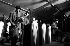 Toronto Jazz Festival   Big Bad Voodoo Daddy (Steph Cloutier) Tags: music toronto jazz places swing bands 2008 bigband nathanphillipssquare jameshunter torontojazzfestival bigbadvoodoodaddy stephaniecloutier soundproofmagazine