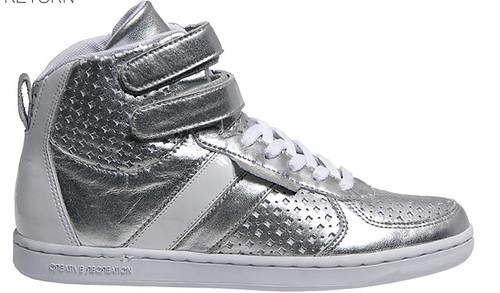 Creative Recreation women's dicoco: metallic silver