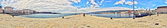 Panorama Molo Audace (Giuseppe Lucido - Evil is in the detail) Tags: city sea sky italy panorama stone clouds photoshop landscape dock italia nuvole day mare 360 cielo pietra molo paesaggio trieste citt giuseppe stiched lucido giorno trst