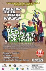 Poster Pertunjukan Teater Boneka Raksasa