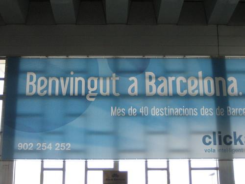 Benvingut a Barcelona