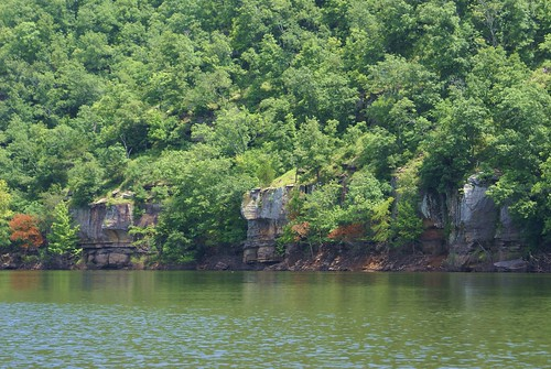 bluffs along Greers Ferry, middle-fork? South Fork?