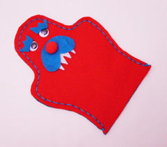 Craft Felt Monster Hand Puppet #1 (thefunkyfelter) Tags: blue red cute monster kids fun bright puppet craft felt childrens feltro handpuppet filz thefunkyfelter