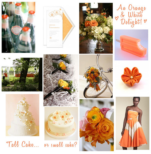 Wedding Wednesday: Orange White / Cream with Orchids