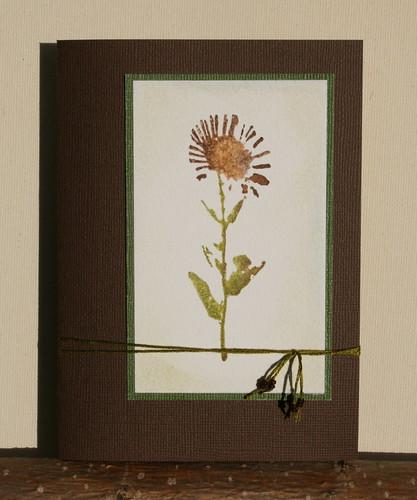 a simple flowercard