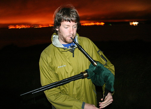 Bag pipes at night... on a deserted island...
