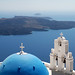 Blue-domed church (Santorini) by marcelgermain