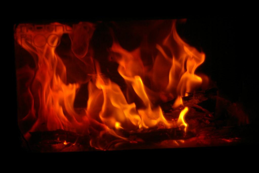 Wood fire heater