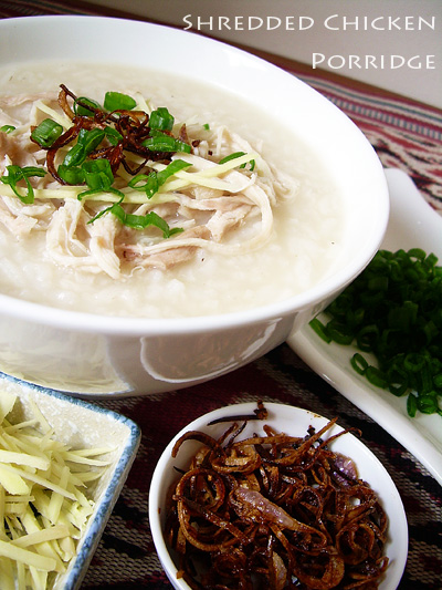 shredded chicken porridge