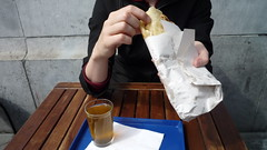 moroccan crepe, mint tea