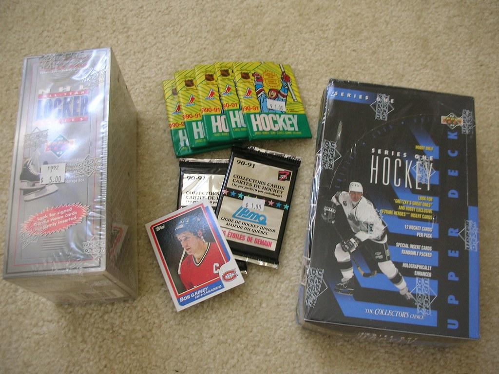 Hockey card assortment