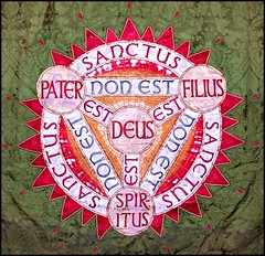 Holy Trinity (Simon_K) Tags: church sign suffolk symbol father churches son lincolnshire christian trinity mythology 1000 myth deity rolandbarthes triune holytrinity holyghost godhead doctrine holyspirit signifier signified threeinone trinitarian signofthecross oneinthree fathersonandholyspirit