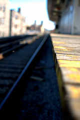(Brian Hagy) Tags: wood chicago yellow project focus paint track dof cta decay platform il transportation peel berwyn myittybittygritycity