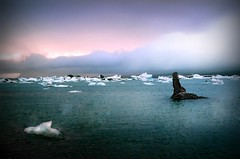 Jokulsarlon - Iceland (tigri) Tags: autumn winter sunset panorama lake ice nature water landscape iceland melting september glacier iceberg route1 jokulsarlon globalwarming glacial glacierlagoon explore288