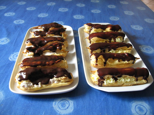 2008.08.25. db eclairs 09 left banana right pudding