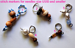 recycled paperclip stitch markers