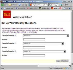 wells fargo security questions