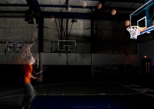 Basketball shot using RPT mode of the Nikon SB800