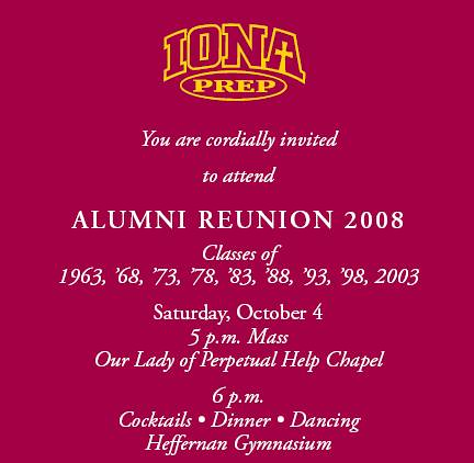 iona reunion invite