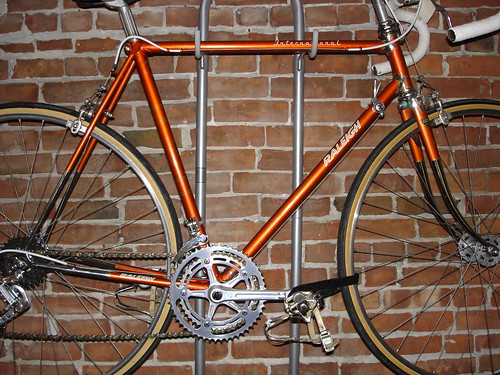 vintage classic lugged steel with chrome Raleigh International touring geometry