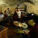 Arnie Somogyi leads combo practice in wine cellar of Il Castello