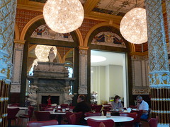 The cafe at the V & A in the Gamble Room