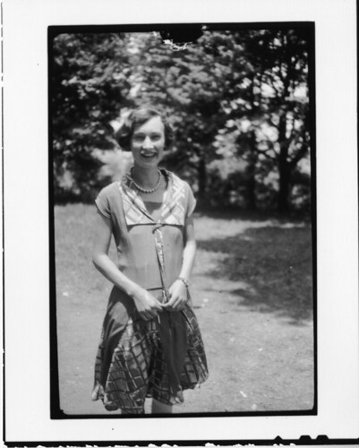 Andrewena Robinson Davis. Daughter of F. E. Robinson, owner of the Dayton drugstore, Taken during th