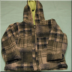 Green Plaid Berber Jacket