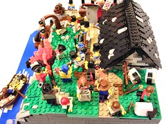 The beacons! The beacons are lit! (SlyOwl) Tags: village lego pirate pillage