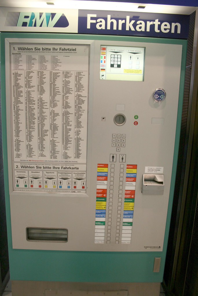 Frankfurt Germany RMV Transit ticket Machine - A step by step guide on how to purchase your ticket!
