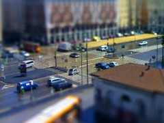 Artificial (Daniele Pesaresi) Tags: street city italy milan art cars love colors photoshop design miniature flickr traffic 10 milano fake manipulation hobby million crossroad fabulous jam retouch picturesque nationalgeographic tiltshift feelsgood canonpowershotg7 danielepesaresi worldtrekker ritoccofotografico