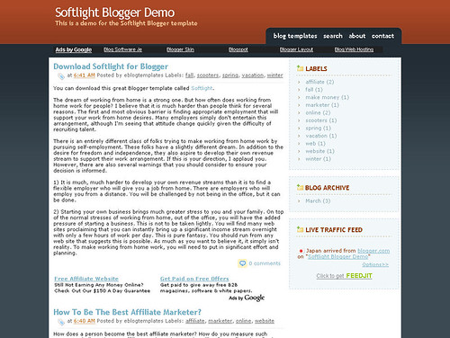Softlight blogger template
