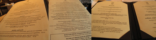 Second City Menus