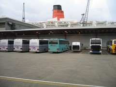 My first sight of the QE2 (nickherber) Tags: cruise england pier ship southampton queenelizabeth2 cunard qe2 oceanliner