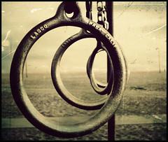 Dont' play with the rings (re-edit) (manlio_k) Tags: santa usa texture beach america losangeles nikon dof bokeh rings monica processing spiaggia manlio treatment castagna anelli texturized memoriesbook manliocastagna manliok