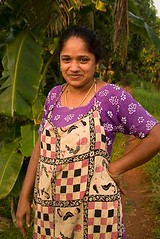 Woman with apron (melissaenderle) Tags: vacation asia kerala backwaters
