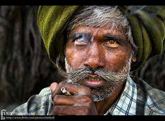 In Thoughts (bnilesh) Tags: interestingness smoking ruralportraitindiacanonefs1855mmf3556issenior