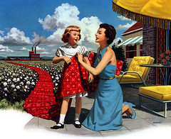 Mother & Daughter 1952 (MsBlueSky) Tags: vintage outside ad daughter mother retro advertisement 1950s 1952