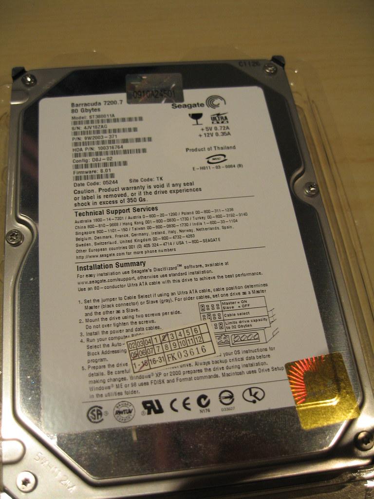 80GB Hard Drive Extra: $50