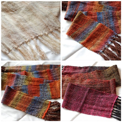 new woven scarves