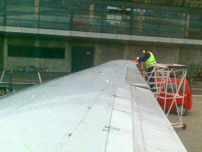 repairs on plane this morning